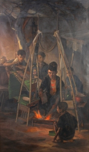 Dullah's Penjual Sate An early work by the Indonesian Realist
