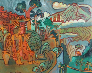 038 Husner, Paul Landscape of Bali, Iseh 2001