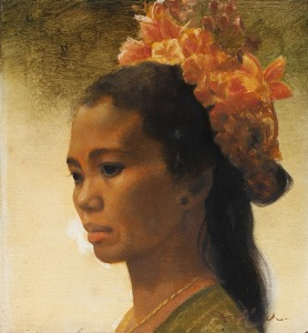 040 Dullah Portrait of a Girl with Flowers in Her Hair
