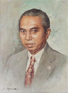 097 Hasim Potret Adam Malik 1975
