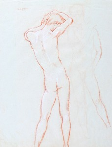 119 Bonnet, Johan Rudolf Studies of Figures pencil on paper